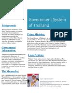 government status of thailand