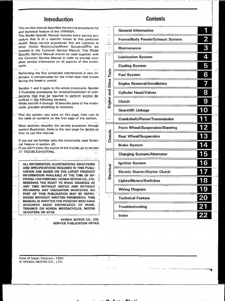 Honda Vfr 400 Manual De Reparatie Manualedereparatie Vfr400r Electric Starter Wiring Diagram