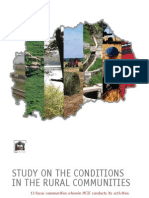 Study on the conditions in the rural communities