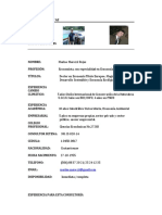 Curriculum  Vitae  Dr. Marino Marozzi R. 2017
