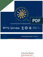 Informe Rector U. de Caldas al Consejo Académico - 8 de Noviembre 2017