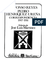 Correspondencia Henríquez Ureña-Alfonso Reyes