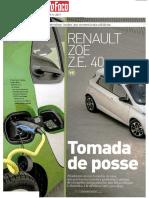 "RENAULT ZOE Z.E. 40 FRENTE AO SMART FORTWO ELETRIC DRIVE NA ""AUTO FOCO"""