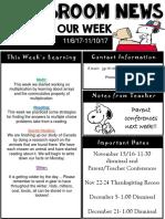 weekly newsletter  powerpoint 6-10