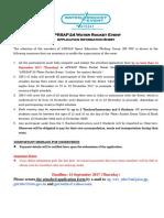 APRSAF-24 Water Rocket Event Application Information Sheet