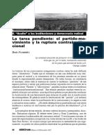 VS143 B FernaI Ndez La Tarea Pendiente El Partido Movimiento y La Ruptura Contrainstitucional