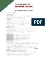 Bases Concurso de Canto 2017