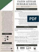 cream and gray modern resume