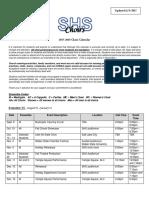 shs choir calendar 2017-2018