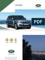 L405 Range Rover VOGUE Catálogo Brochure 2017