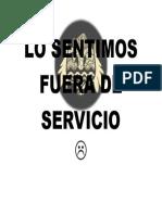 Fuera de Servicio