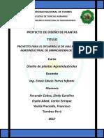 PROYECTO Para El Desarrollo de Una Planta Agroindustrial de Empacadora de Uva