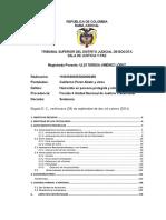 Tribunal Superior Del Distrito Judicial de Bogotasentencia1 Bloque Bolivar Farc