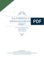 La Pobreza y La Desigualdad en El Perú