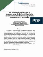 La teoria pluralista de la democracia de Robert Dahl