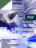 Gobierno Electronico IMES - Las TIC en El Estado