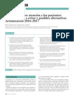 Hacia una mejor atención a los pacientes- medicamentos a evitar y posibles alternativas. Actualización 2016-2017