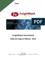 Freightwatch International Robo de Carga en Mexico 2012