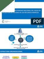 5. Funciones de La ANA en La Gestión de Calidad de Los Recursos Hídricos.