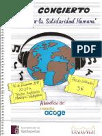 """Cartel II Edición Concierto """"Notas por la Solidaridad Humana"""""""