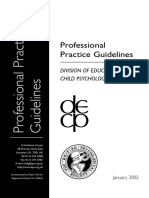 Professional Practice Guidelines - Division of Educational and Child Psychology