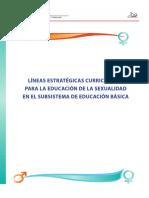 Lineas Estrategicas Curriculares Para La Educacion de La Sexualidad en El Subsistema de Educacion Basica
