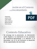 La Intervención en El Contexto Sociocomunitario.