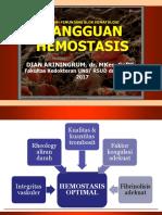 [KULIAH] 4 Kuliah Gangguan Hemostasis 2017-Dr Arin