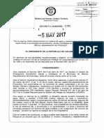Decreto 735 Del 05 de Mayo de 2017