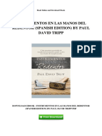 Instrumentos en Las Manos Del Redentor Paul David Tripp