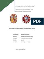 Trabajo Modificado de Metrados y Analisis Estatico