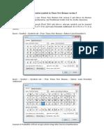 Format Transliteration Symbols