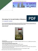 Determining the Marshall Stability of Bituminous Mixture