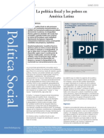 Síntesis de Política Social de Inter-American titulado La política fiscal y los pobres en América Latina