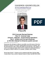 Daniel T. Goodwin Irrefutable Felony Evidence -  The Law Offices of Daniel T. Goodwin
