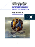 The World Assembly of Ethics (Non Profit Organization) by Ali Zohery, Ph. D.