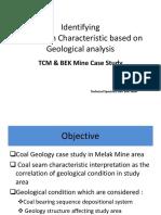 Geology of Coal Melak