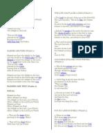 Psalm's 1- 150 Lyrics