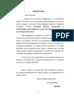 Actividad Turistica Perspectivas y Oportunidades Nivel Regional y Local Provincia Del Santa
