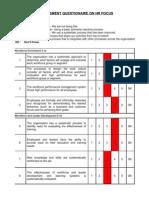 HR Focus Questionnaire