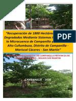 PIP RECUPERACION DE 1800 HECTÁREAS DE SUELOS DEGRADADOS MEDIANTE SISTEMAS FORESTALES EN LA MICROCUENCA DE CAMPANILLA Y EL VALLE DE ALTO CUÑUMBUZA, DISTRITO DE CAMPANILLA - MARISCAL CACERES - SAN MARTIN.pdf