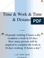Time & Work & Time & Distance