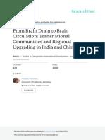 From Brain Drain to Brain Circulation Transnationa