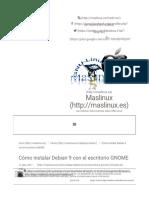 Cómo Instalar Debian 9 Con El Escritorio GNOME – Maslinux