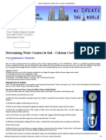 Determining Water Content in Soil – Calcium Carbide Method