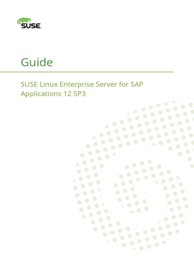 Sles for Sap Guide SUSE Linux Enterprise Server SAP Application