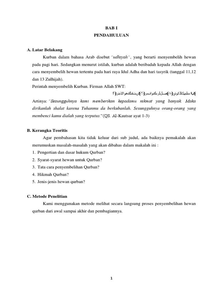 Contoh Laporan Kegiatan Penyembelihan Hewan Qurban Kumpulan Contoh Laporan