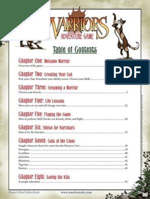 Game_Rules pdf | Warriors (Novel Series) | Storytelling