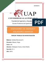 Disipadores y Aisladores de Energia
