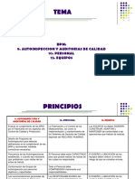 Equipos, Autoinspección y Auditorias